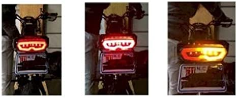 Grom SF LED Tail Light Grom SF Clear Tail Light w// Integrated Turn Signals /& HD Relay CLED Honda Grom 2014-17 Honda Grom