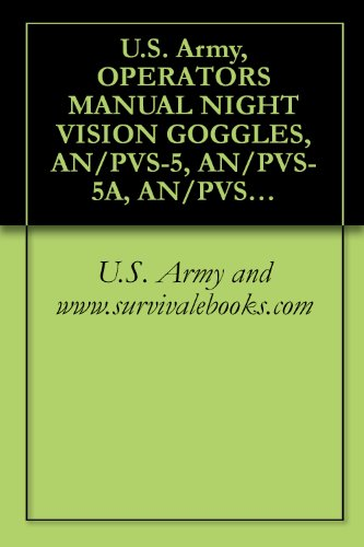 U.S. Army, OPERATOR'S MANUAL NIGHT VISION GOGGLES, AN/PVS-5, AN/PVS-5A, AN/PVS-5B, AN/PVS-5C, GM-6(V)1 GOGGLES, GM-6(V)2 GOGGLES