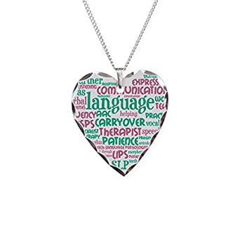 CafePress - SLP Heart Necklace - Charm Necklace with Heart Pendant