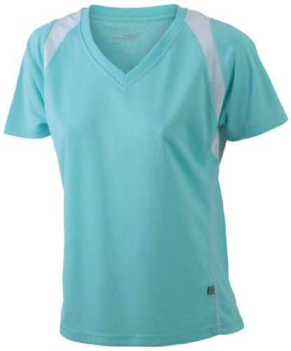 James & Nicholson Damen T-Shirt Mint/White