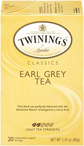 Twinings of London Classics Earl Grey Tea, 20 Count (Pack of 6), 1.41 oz (packaging may vary )