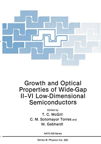 Growth and Optical Properties of Wide-Gap II-VI Low-Dimensional Semiconductors (Nato Science Series B:)