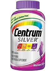 سنتروم سيلفر مكمل غذائي متعدد الفيتامينات والمعادن للنساء ، 50 بلس 200 قرص