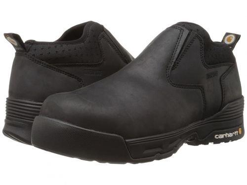 Carhartt(カーハート) メンズ 男性用 シューズ 靴 ブーツ 安全靴 ワーカーブーツ 4 Inch Black Waterproof Slip-On Black Coated Leather [並行輸入品] B07BMNJ4Q7 14 EE Wide