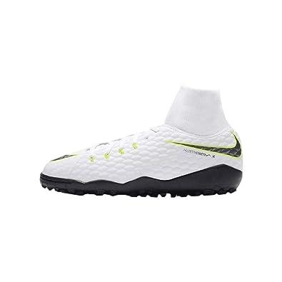 b0d6b31a4442d9 NIKE Unisex Kids  Hypervenom Phantom X 3 Academy DF TF JR Football Boots