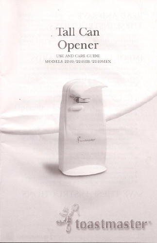 toastmaster can opener - 6