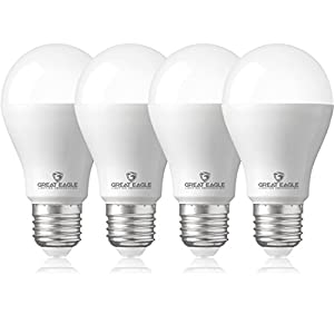 Great Eagle 40/60/100W Equivalent 3-Way A21 LED Light Bulb 3000K Bright White Color (4-Pack)