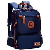 Elementary School Bags Bookbag Waterproof Lightweight Reflective Small Backpacks for Boys Kids (Sapphire Blue, Small)