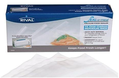 Amazon.com: seal-a-meal 1 Galón bolsas: Kitchen & Dining
