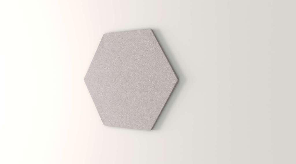 Obex 24-TB-H-OV 24'' Obex Hexagon Tackboard, Overcast, 24''