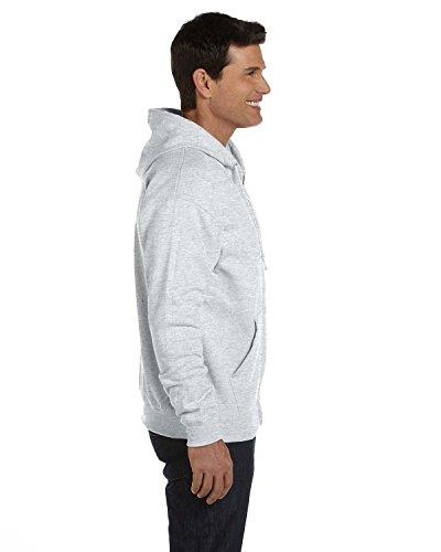 Capucha con cierre completo ComfortBlend EcoSmart para hombre de Hanes, gris ceniza, talla M