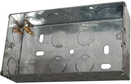 Cablefinder - Caja metálica doble para montaje empotrado (5 ...