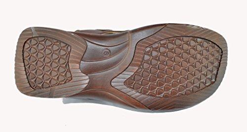 Mens Tåligt Syntetiskt Läder Comforable Sandal Klassiska Fiskare Sandal Brun