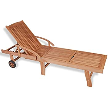 Amazon Com All Things Cedar Teak Chaise Lounge Garden