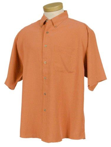 Tri-Mountain Men's Big And Tall Mini-Plaid Pattern Dress Shirt