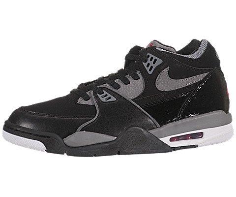 Nike Men's NIKE AIR FLIGHT 89 BASKETBALL SHOES 13 (BLACK/SPORT RED/CL GREY/WHITE)