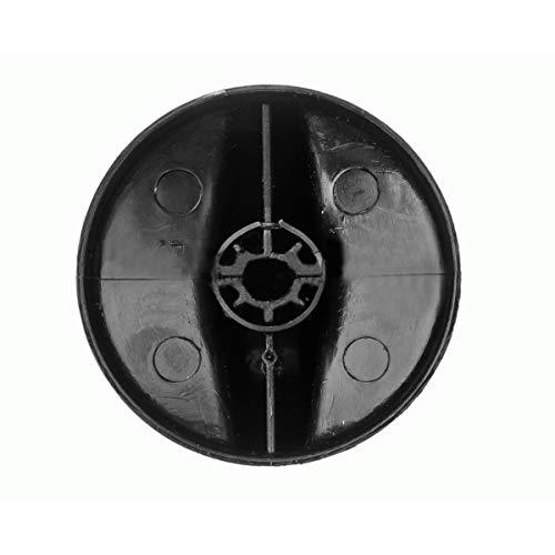 Recamania Mando encimera TEKA Eje 5,5 mm. Negro