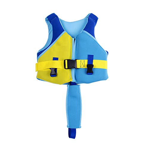 Children Float Vest, Kids Swimming Training Jacket Learn to Swim for Boys Girls (Blue for Boys, Tag S/Suggest 1-3 Years)