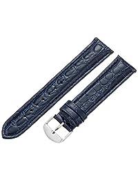 Hadley-Roma Men's MSM907RF-200 20mm Blue Genuine Leather Watch Strap