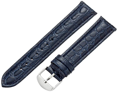 Blue Leather Strap - Hadley-Roma Men's MSM907RF-200 20-mm Blue Genuine Leather Watch Strap