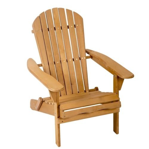 Balance World Inc Outdoor Wood Adirondack Chair Garden Furniture Lawn Patio Deck Seat by Balance World Inc