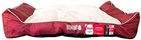Amazon Com Kong Lounger Dog Bed Red Chew Resistant Pet Supplies