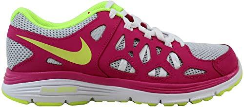 Nike Grade-School Dual Fusion Run 2 Pure Platinum/Volt Ice-Vivid Pink Sneakers 7