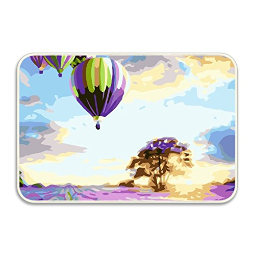 Ranhkdn Balloon Doormat Entrance Floor Mat Indoor Outdoor Decorative Doormat Bathroom Mat