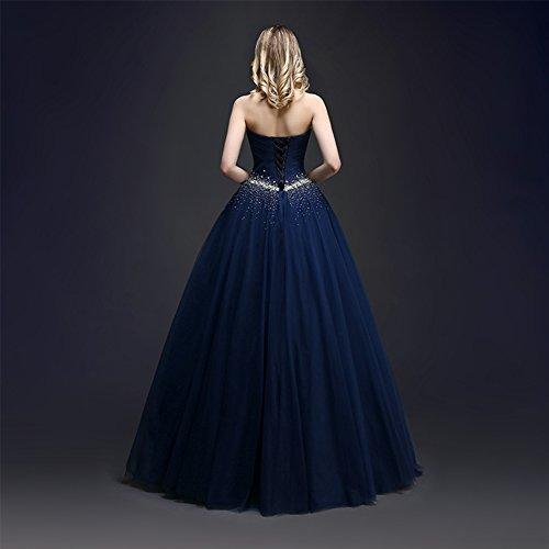 kleider KAIDUN Tuell Abendkleid lange Damen Party Ballkleid Burgundy FqwZ4q