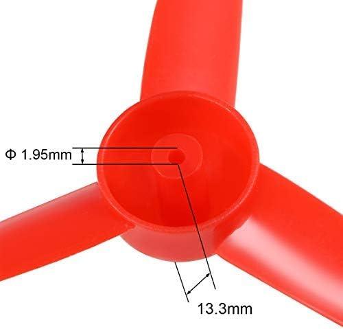 RC Propeller 80mm 3 Zoll 3 Zoll 130cc mit 2m Welle Rotgelb 40 St/ück