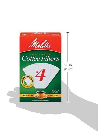 Melitta (624102C) #4 Super Premium Cone Coffee Filters, White, 100 Count (Pack of 12) Replacement Coffee Maker Filters by Melitta (Image #10)