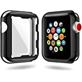 Runostrich Compatible Apple Watch Case 42mm 38mm, Scratch-Resistant Shock-Proof Soft Lightweight TPU All-Around Cover Protective Slim Case Compatible Apple Watch Series 3,Series 2 (Black, 42mm)