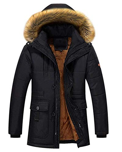Casual Stand Zipper Coat Schwarz Outerwear Coat Collar Jacket Sleeve Down Brands Overcoat Men's Jacket Hooded Men's Warm Long Fashion BOLAWOO qzIXEW