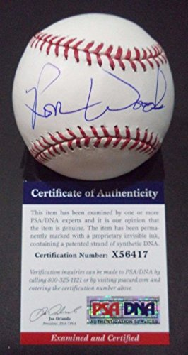 Ron Woods NY Yankees Rare Signed Autographed Official MLB Baseball PSA/DNA COA #x56417