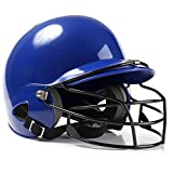 Baseball Helmet, Teen Softball Helmet, ABS Shell, binaural Baseball Helmet with 2 Earmuffs and Protective mask