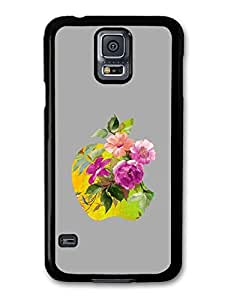 Cool New Apple and Flowers Design case for Samsung Galaxy S5