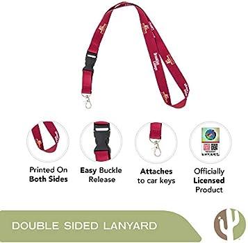 Henderson State University HSU Reddies NCAA Car Keys ID Badge Holder Lanyard Keychain Detachable Breakaway Snap Buckle