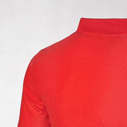 D'été Revers Courtes Manches Personnalité Fermeture Shirt Fit V Mens Hommes T Glissière Deelin Couleur Casual Mode Conception À Rouge shirt Tops Unie Cou Slim SWqYzav5xw