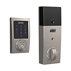 Add the Schlage connect smart deadbolt to your Z Wave smart home or security system (sold separately) to control and monitor your lock from anywhere. Never Wonder whether you left the door unlocked again – just open your smart home systems mo...