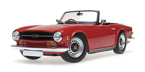 1969 Triumph TR6 Right-hand Drive Convertible Red Limited Edition to 500 pieces Worldwide 1/18 Diecast Model Car by Minichamps 155132031 -