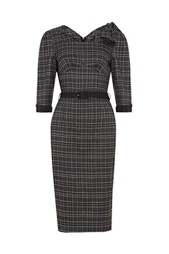Voodoo Vixen Veronica Tartan Plaid Vintage Retro 50s Wiggle Smart Pencil  Dress - Grey (XL): Amazon.ca: Clothing & Accessories