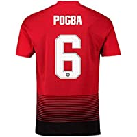 Manchester United Home #6 Pogba Mens Soccer Jerseys 18-19...