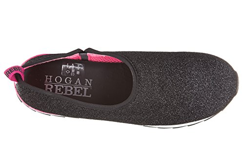 Hogan Rebel slip on femme sneakers noir