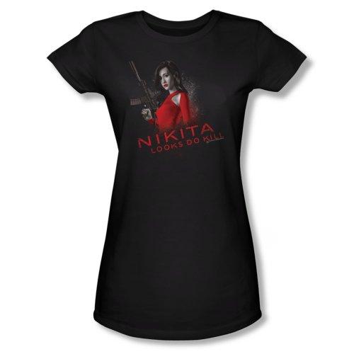 Nikita Looks Do Kill Juniors T-Shirt Large Black