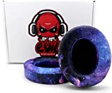 Custom Beats Cushions/Ear-pads by Evil Cushions - Compatible with Beats by Dre Studio 2.0 Wired/Wireless & Studio 3.0 Over-Ear Dr. Dre Headphones (Does NOT fit SOLO) - Galaxy