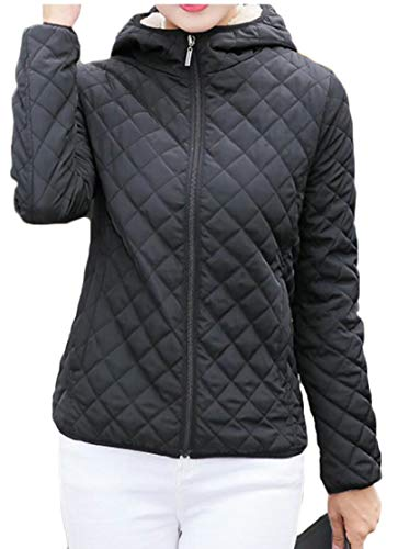 Women's Outwear Parkas Thickened Jacket Short Coats Hooded TTYLLMAO Down Black RdHqwdO