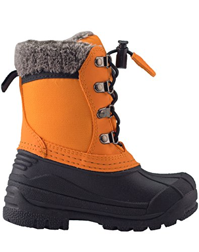 OAKI Kids Snow Boots for Girls and Boys - Youth & Toddler Boots Fur Lined, Waterproof, Insulated Cold Rating -30˚   Lava Orange, 6T US Toddler