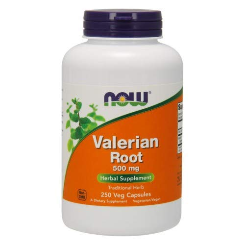 Valerian Root, 500 mg, 250 Caps by Now Foods (Pack of 6)