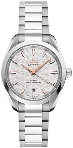 Omega Seamaster Aqua Terra Co-Axial Master Chronometer Opaline Silver Dial Automatic Ladies Watch 220.10.34.20.02.001 (Omega Watches Models And Prices In India)