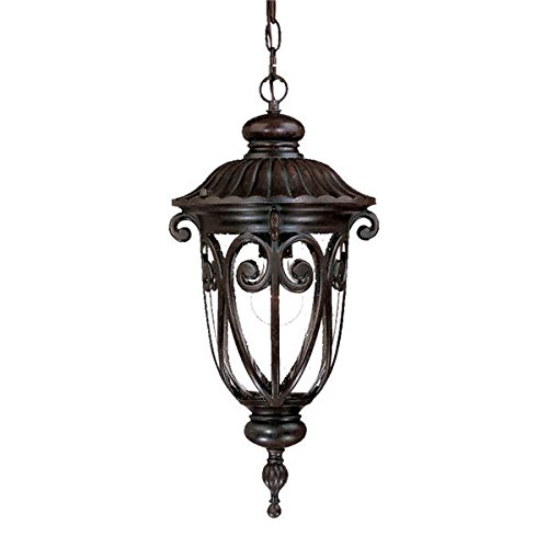 Acclaim 2116MM Naples Collection 1-Light Outdoor Light Fixture Hanging Lantern, Marbleized Mahogany Acclaim Lighting Naples Collection